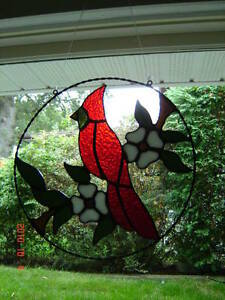 Stained Glass Red Cardinal ring Kingston Kingston Area image 3
