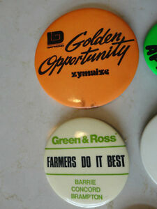 Set of 5 Vintage Button Pins - From 1976.  Very Old $23.00/all 5 Kitchener / Waterloo Kitchener Area image 3