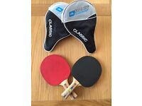 Shildkrot Table Tennis Bats and Balls X 2