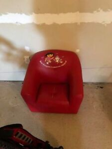 Dora Red Leather chair