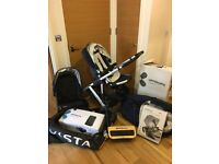 Uppababy Vista Pram (entire full suite) single & double parts all included