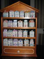 LENNOX SPICE VILLAGE FINE PORCELAIN 24 HOUSES / JARS & DISPLAY