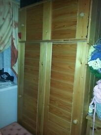SOLID WOOD. PINE WARDROBE,