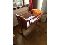 Beautiful Rocking Babies Crib