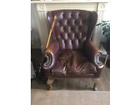 Classic Real Leather Arm Chair, chesterfield, wing back