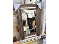 chunky champagne silver mirror