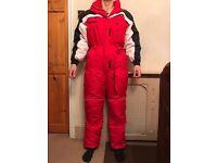 Trespass red ski snow suit
