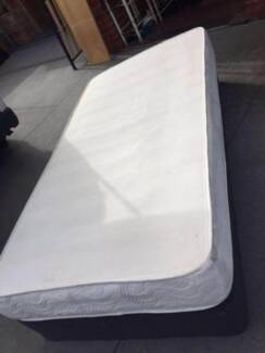 2x king single bedbase mattress, can delivery at extra fee.   the