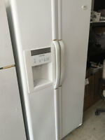 White Side By Side Fridge in Great Condition with Warranty