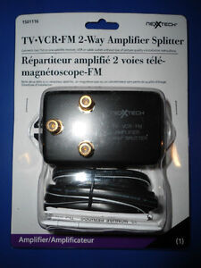 NEXXTECH TV-VCR-FM 2 WAY AMPLIFIER SPLITTER