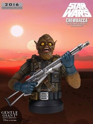 Gentle Giant Star Wars Chewbacca McQuarrie Concept 2016 SDCC Excluisve Bust New