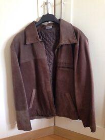 Ladies Brown Suede Jacket Size 12