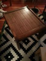 Vintage Wood End table
