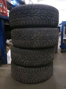 4 205/55/16 studded winter tires & rims
