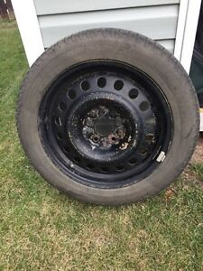 4 Michelin Winter Tires, rims and sensors