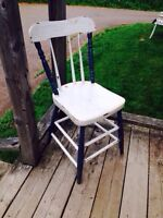 Sturdy Antique Chair, Great Outdoor or Indoor Decor