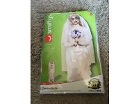 Zombie Bride Costume Medium Brand New