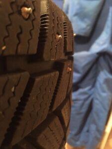 4 Studded winter tires on rims St. John's Newfoundland image 1