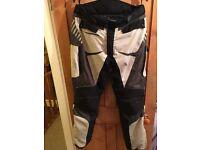 Nitros textile motorbike trousers 36waist