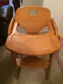 Wooden mamas and papas high chair