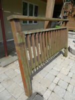 Railings for deck, used