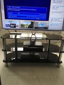 Black & Chrome Tv Stand/Unit