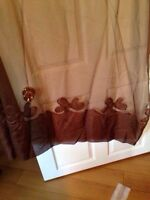 Sheer brown curtains
