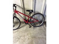 """Lovely red boys mountain bike size 24"""" wheels suit age 8-12 years"""