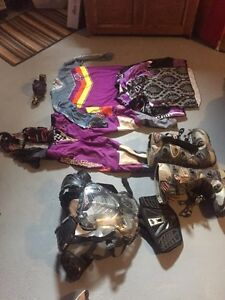 Women's size medium Motocross gear and Ogio bag