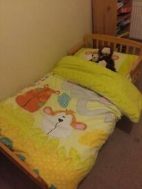Toddler Bed with Mattress. Bedding Bundle also Available