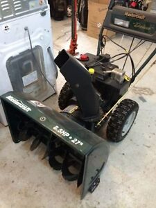 Mastercaft 8.5 hp 27 inch Snowblower for sale