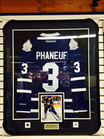 Dion Phaneuf Framed signed Jersey
