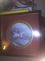Vintage Framed Fox Hunting Print by Bombay Company