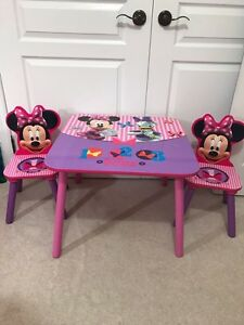 Table with two chairs for girls