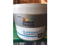 Un opened Dulux almond white