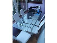 Glass table and chairs