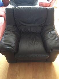 3 piece leather sofa - £100