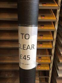 Vinyl Floor Dark Grey Glitter £20 1.44 x 4 Metres