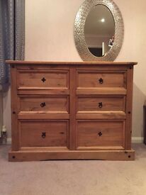 REVISED PRICE. Real Oak Chest of Drawers