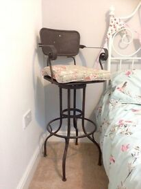Gorgeous retro metal bar stool