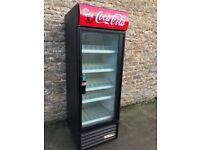 single door coke fridge