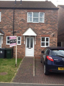 Hemingbrough - 2 double bed semi for rent
