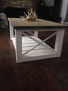 Beautiful Custom Coffee Table with Shelf