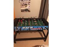 Air hockey and soccer table