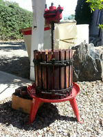 Wine making equipment (including wine press)