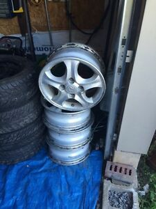 Hyundai 4 bolt rims 15""