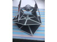 Star Wars tie fighter with 2 sets of wings and figure