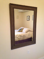 Beautiful mirror from Wickeremporium with wood frame