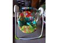Bright start baby swing