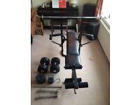 Weider Weights Bench + 30kg Assorted Weights